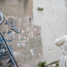 Šiemet Vilniuje bus nuvalyta rekordiškai daug grafičių