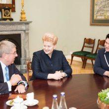 D. Grybauskaitė susitiko su TOK prezidentu T. Bachu