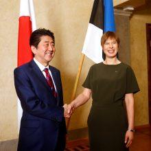 Japonijos premjeras atvyko į Estiją ir tęs kelionę į Latviją bei Lietuvą