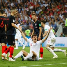 Kroatijos futbolininkai po pratęsimo pateko į pasaulio čempionato finalą