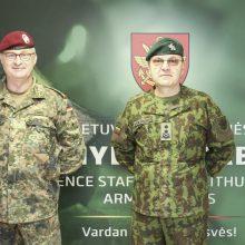 Vokietijos kariuomenės vadas aplankė savo karius Rukloje
