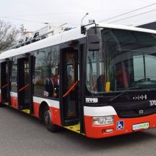 Į Vilniaus gatves išriedės 40 naujų žemagrindžių troleibusų