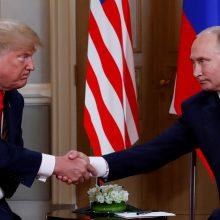 Baltieji rūmai: vyksta derybos dėl D. Trumpo ir V. Putino susitikimo Vašingtone