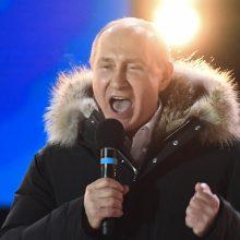 V. Putinas Kryme paminės pusiasalio aneksijos penktąsias metines