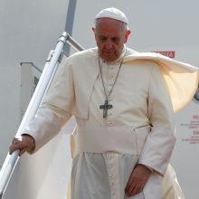 Politikus kaltina manipuliacija: popiežius Kauno turbūt neaplankytų
