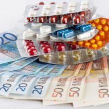 Už vaistus šią liepą primokėta mažiau nei pernai
