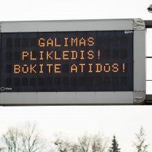 Vairuokite atsargiai: Kauno ir Prienų rajonuose – plikledis