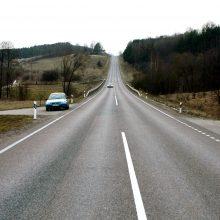 Pavojingiausi keliai – jau su atnaujintomis ištisinėmis linijomis <span style=color:red;>(išskyrus Uteną)</span>