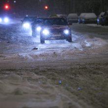 Klaipėdoje siaučia pūga: eismo sąlygos sudėtingos