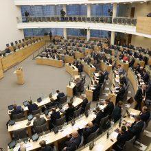 Kitą savaitę Seime plenariniai posėdžiai vyks penkias dienas