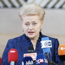 D. Grybauskaitė: Lietuva svarsto išsiųsti rusų šnipus po diplomatine priedanga