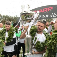 "LFF taurę iškovojo ""Žalgirio"" futbolininkai"