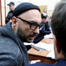 Rusijos teismas areštavo iškilaus režisieriaus K. Serebrenikovo turtą