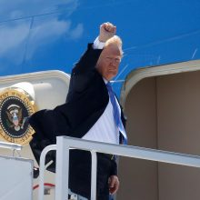 D. Trumpas G7 prekybos derybas pavadino be galo produktyviomis