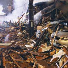 Per sprogimą restorane Japonijoje sužeisti mažiausiai 42 žmonės
