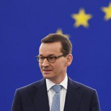 Lenkijos premjeras perspėjo apie Rusijos keliamą grėsmę Europai