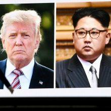 D. Trumpas pasakė, kada planuoja derybas su Šiaurės Korėja