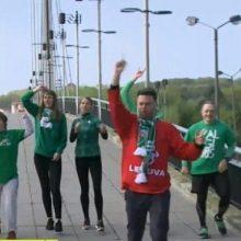 """Pažadą tesėjo: po """"Žalgirio"""" pergalės I. Krupavičius plaukus nusidažė žaliai"""