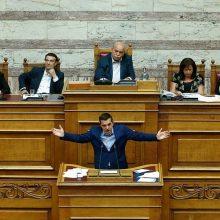Graikijos vyriausybė laimėjo balsavimą dėl nepasitikėjimo