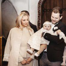 E. Straleckaitė-Daugėlė: krikštynas norėjome surengti, kol dukrelė dar maža