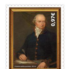 Išleido pašto ženklą A. Sniadeckio 250-osioms gimimo metinėms paminėti