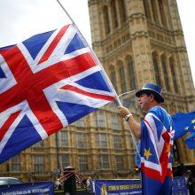 """ES komisaras: yra """"teorinė"""" galimybė, kad """"Brexit"""" neįvyks"""