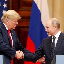 V. Putinas ir D. Trumpas gali lapkritį susitikti Paryžiuje