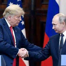 D. Trumpas tikisi, kad susitikimas su V. Putinu ilgainiui pasirodys buvęs sėkmingas