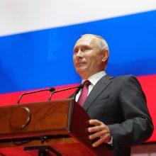 V. Putinas: Rusija yra taiki ir neturi agresyvių planų