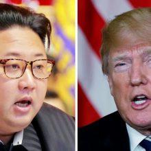 D. Trumpas žada greitai paskelbti susitikimo su Kim Jong Unu datą ir vietą