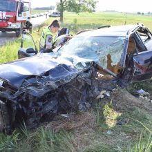 """Alytuje per dviejų """"Audi"""" kaktomušą nukentėjo 7 žmonės <span style=color:red;>(ieškomi avarijos liudininkai)</span>"""