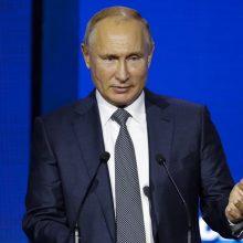 """V. Putinas: sulaikydamos ukrainiečių laivus Rusijos pajėgos atliko """"karinę pareigą"""""""