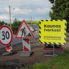 Darbininkai toliau pluša Kauno gatvėse: kas atliekama šią savaitę?