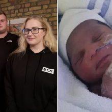 Londone maiše paliktą kūdikį išgelbėjusi kauniečių šeima: didvyriais nesijaučiame