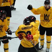 Lietuvos 20-mečių ledo ritulio rinktinė pasaulio čempionato starte nugalėjo britus