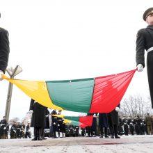 Vėliavos pakėlimo ceremonijoje – šalies vadovų padėkos už apgintą laisvę