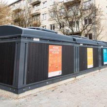 Kauno centre degė požeminiai konteineriai