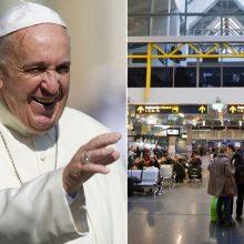 Maldininkų prašoma nevykti popiežiaus pasitikti į oro uostą, keliautojų – planuoti la