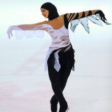 Pirmoji pasaulyje – ledo princesė su hidžabu