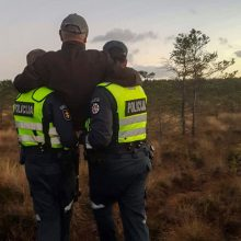 Surasto dingusio vyro šeima dėkoja policininkams