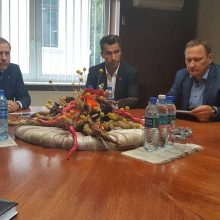 "Uostamiestyje lankėsi ""Hockey Lietuva"" prezidentas D. Zubrus"