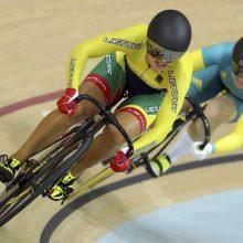 Trys Lietuvos treko dviratininkai iškrito iš kovų dėl medalių keirine