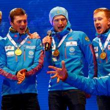 Austrija paskelbė apie dopingo tyrimą Rusijos biatlono komandos atžvilgiu
