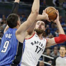 NBA: J. Valančiūnas buvo arti dvigubo dublio