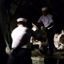 Brazilijos pareigūnai Italijos laive rado 1,3 tonos kokaino