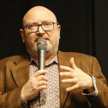 Demaskavimas: filmo autorius A.Jevdokimovas pasakojo apie sumanymo aktualumą.