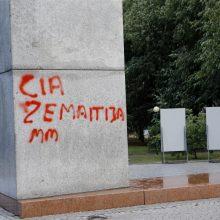 Klaipėdos centre pusamžis vyras aprašinėjo paminklą