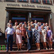 Abiturientų susitikimas Vytauto Didžiojo gimnazijoje po 50 metų