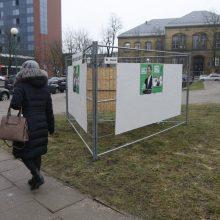 Vandalai niokoja rinkimų plakatus