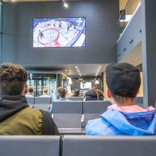 Kauno autobusų stotis kviečia žiūrėti krepšinį